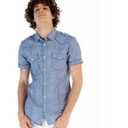 Camisa Chico Cuadros Azul y...