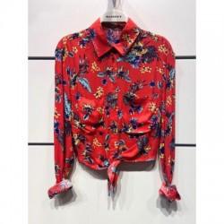 Camisa flores roja