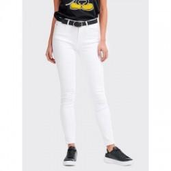 Pantalon blanco ajustado chica